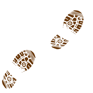 300x300 Footprint Clipart Muddy Footprints
