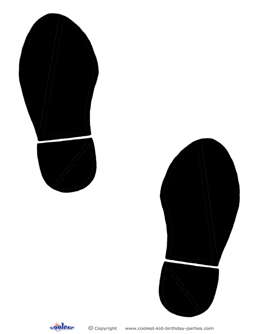 850x1100 Printable Black Footprints Coolest Free Printables Could Also Cut