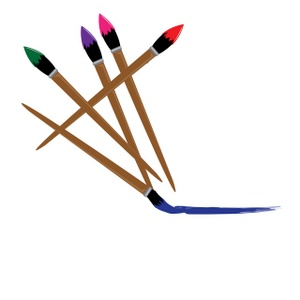 300x300 Paintbrush Artist Paint Brush Clip Art Free Clipart Images 2