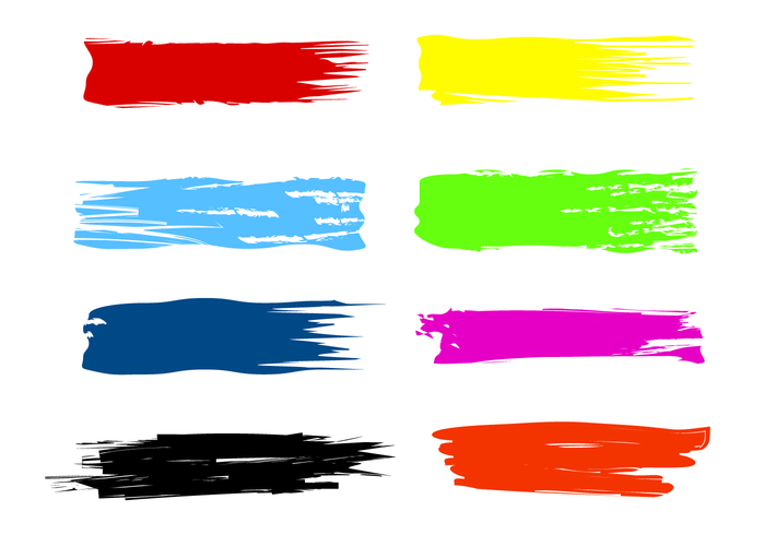 700x490 Free Paint Streak Brush Vectors