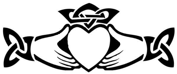 599x253 Irish Clipart Claddagh