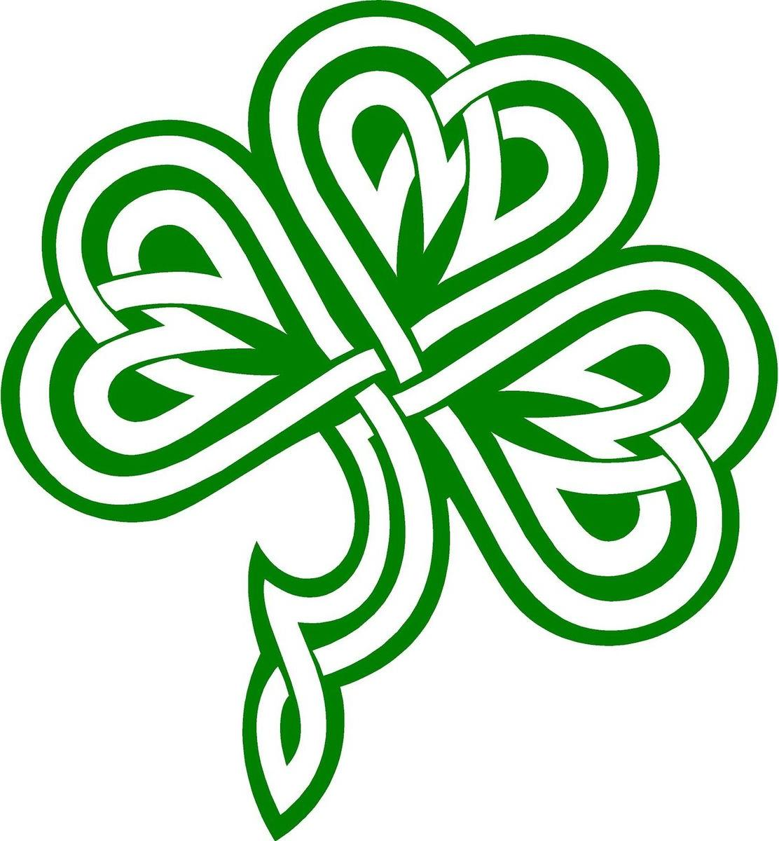 1112x1200 Best Free Irish Shamrock Clip Art Celtic Image