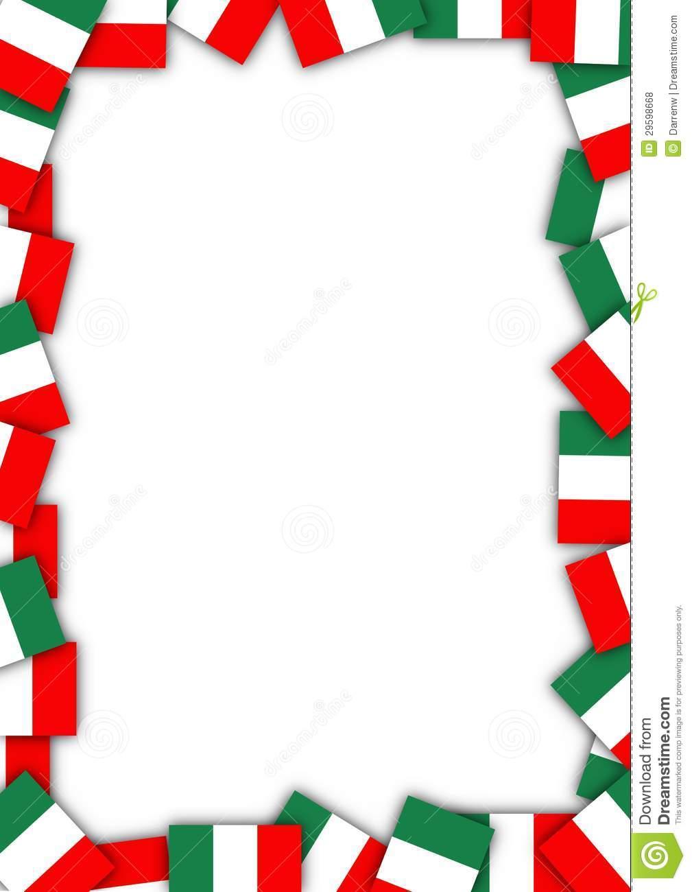 1009x1300 Italian Border Clipart