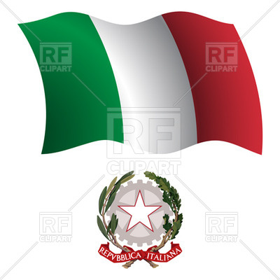 400x400 Italy Flag And Emblem Royalty Free Vector Clip Art Image