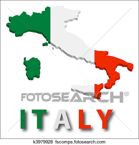 450x470 Clip Art Of Italy Country Map K2645508