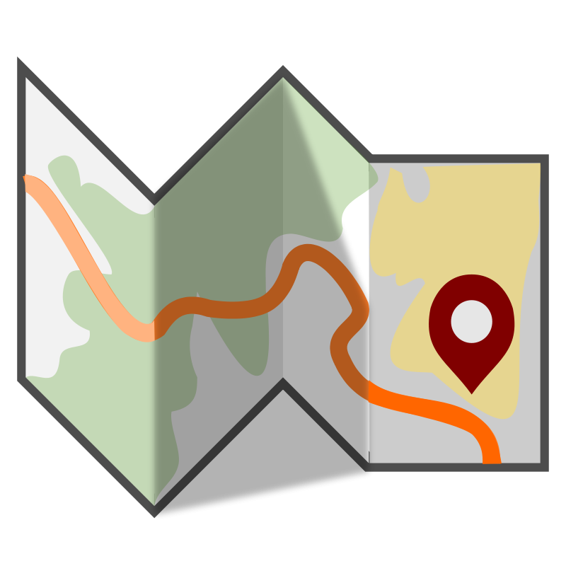 800x800 Free Map Clipart
