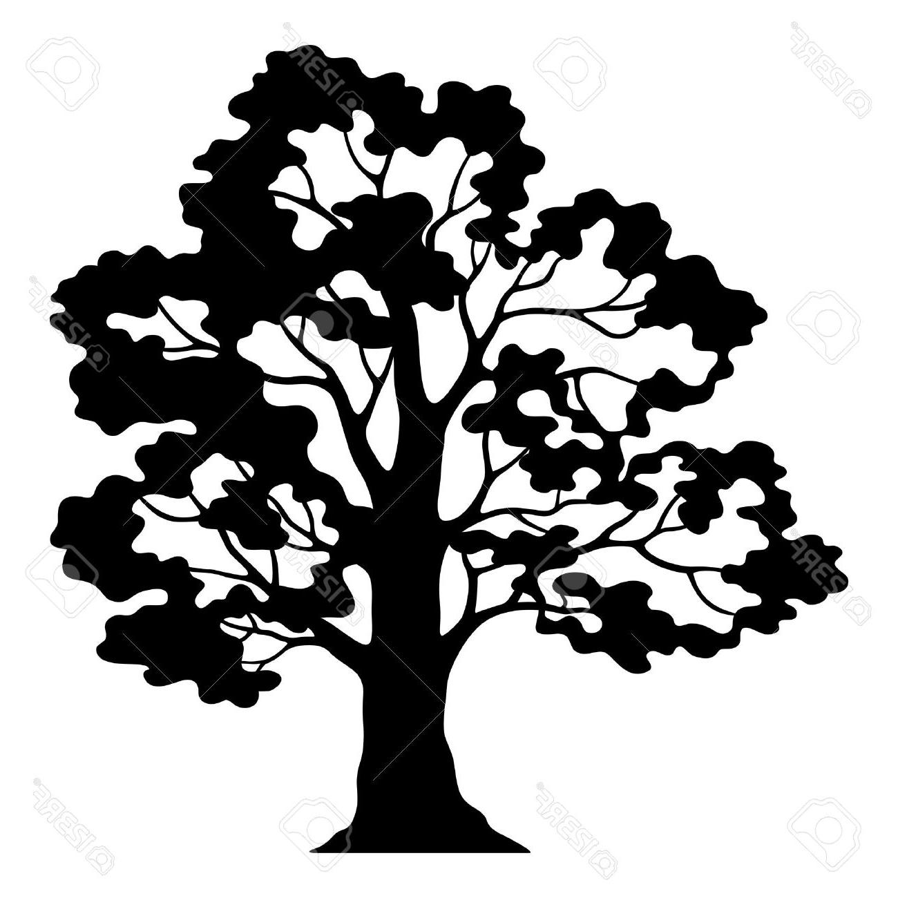 1300x1300 Hd Live Oak Tree Silhouette Clip Art Design Free Vector Art