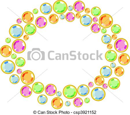 450x399 Jewelry Borders Clipart