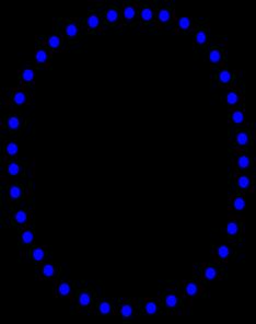 234x296 Necklace Blue Beads Clip Art