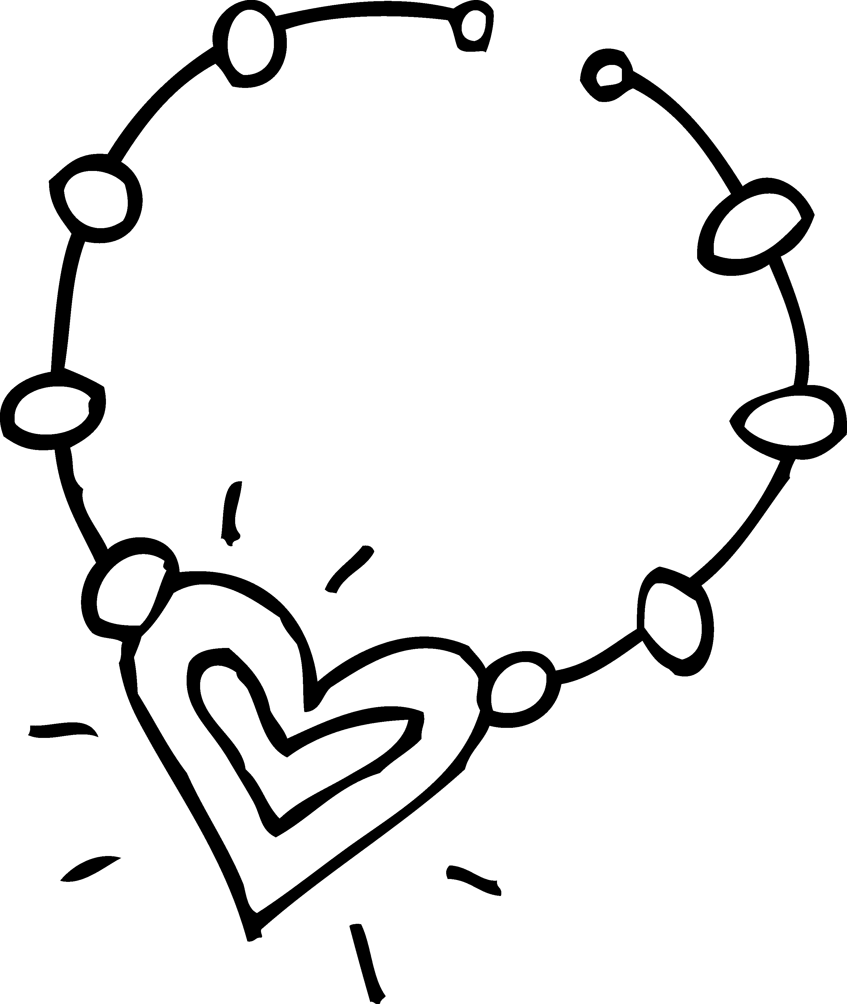 2950x3494 Cute Necklace Coloring Page