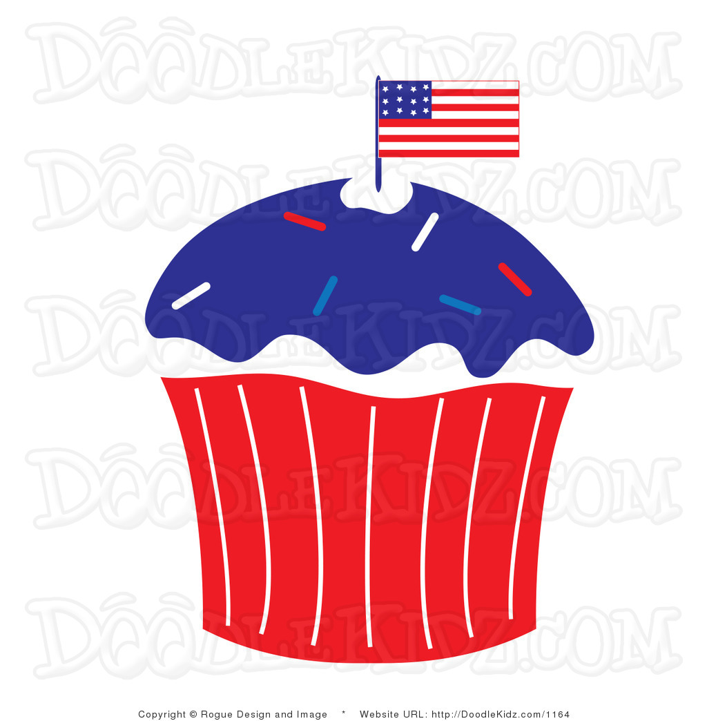 1024x1044 Cupcake Clipart 4th July