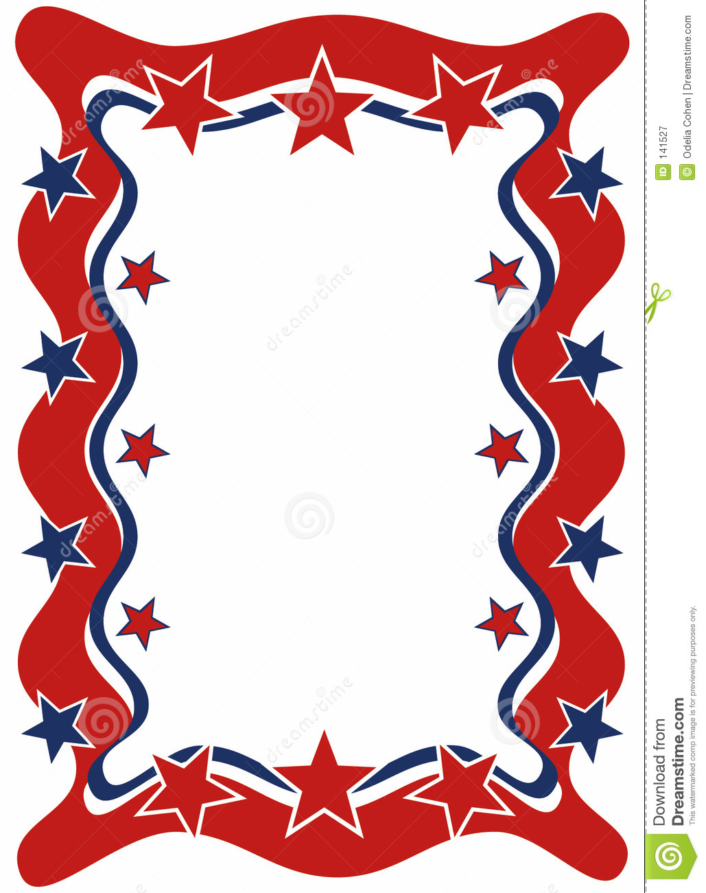 1029x1300 4th Of July Borders Clipart