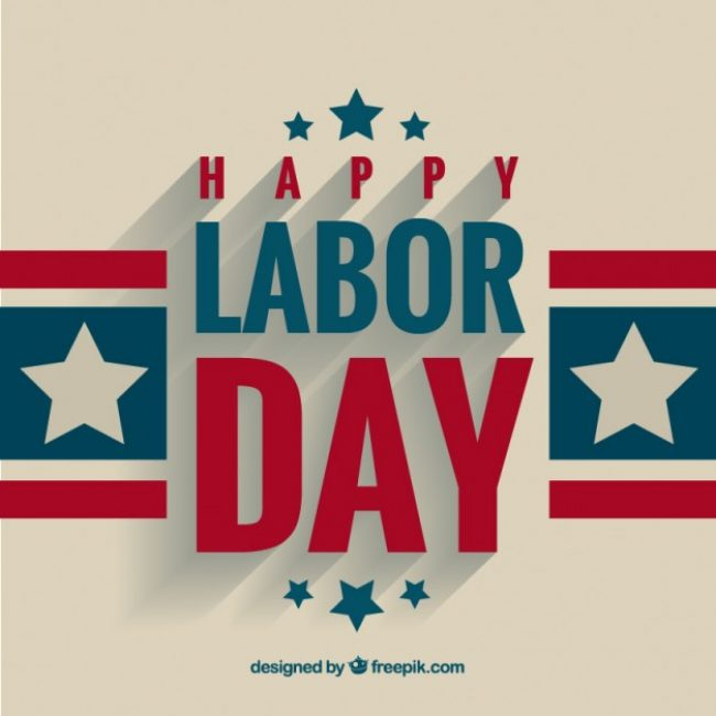 650x650 Free Vector Labor Day Greeting Background