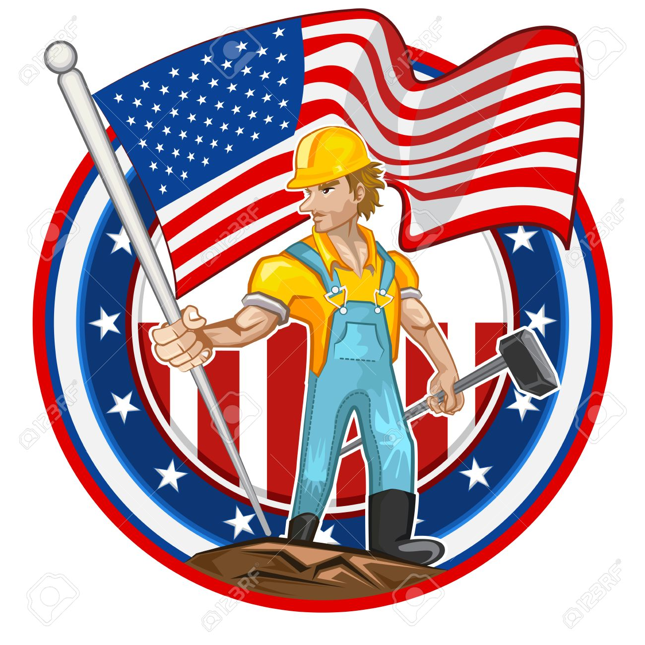 1300x1300 American Worker Labor Day American Worker Labor Man Holding