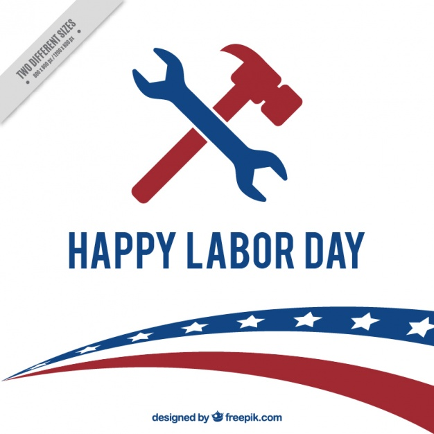 626x626 American Labor Day Background With Wrench And Hammer Vector Free