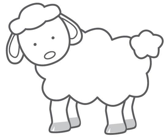 546x459 Sheep Line Drawing