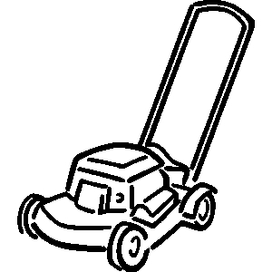 Free lawn mower clipart free download best free lawn for Lawn mower coloring page