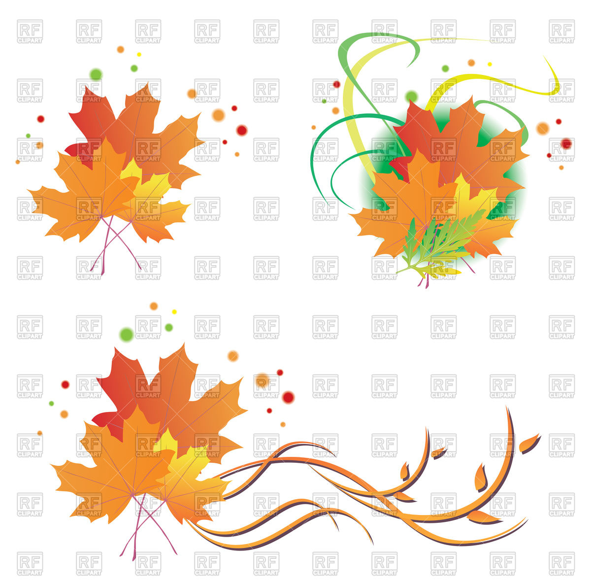 1200x1183 Autumn Leaves Design Elements Royalty Free Vector Clip Art Image