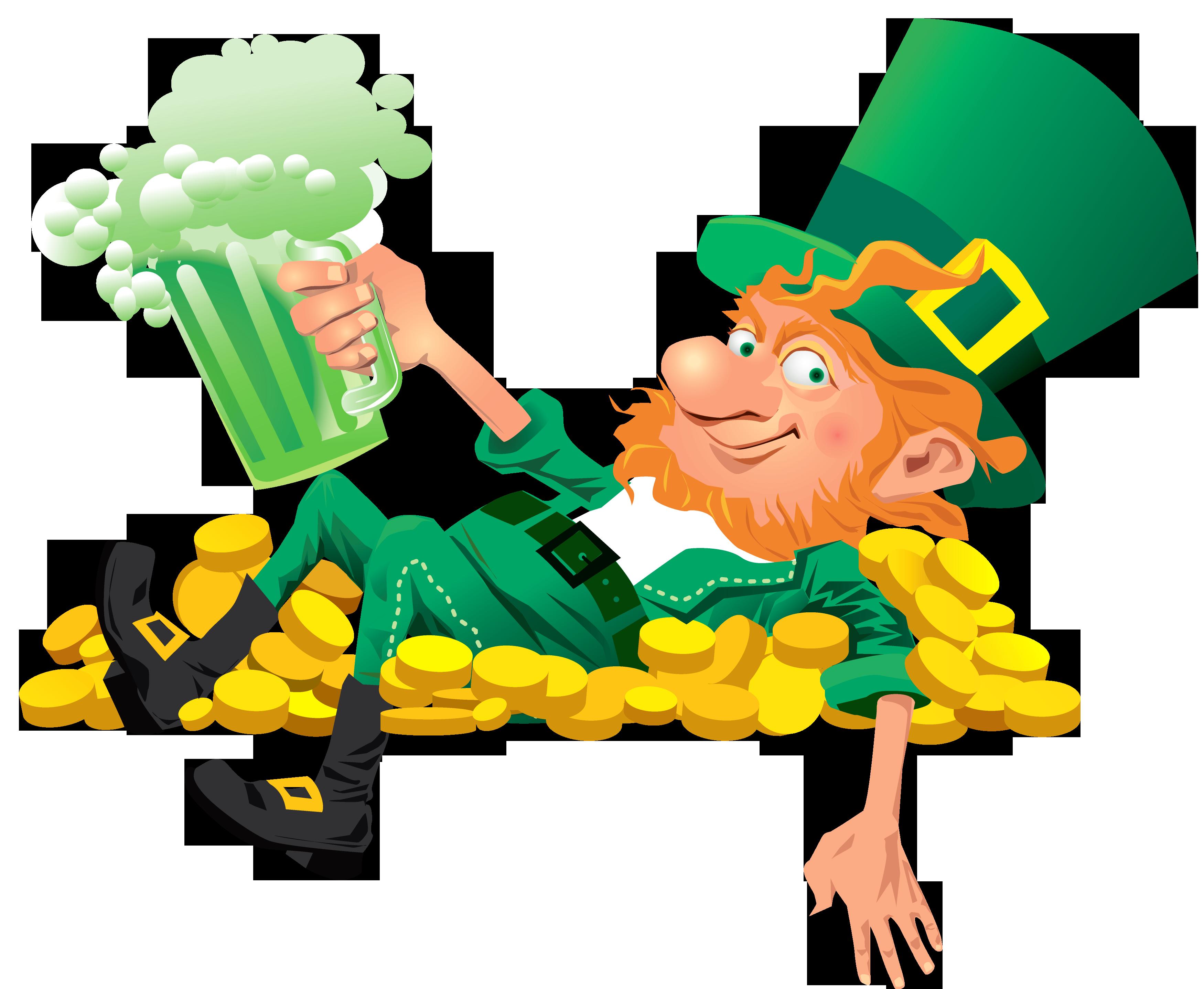 3500x2875 Irish Clipart Leprechaun Beer