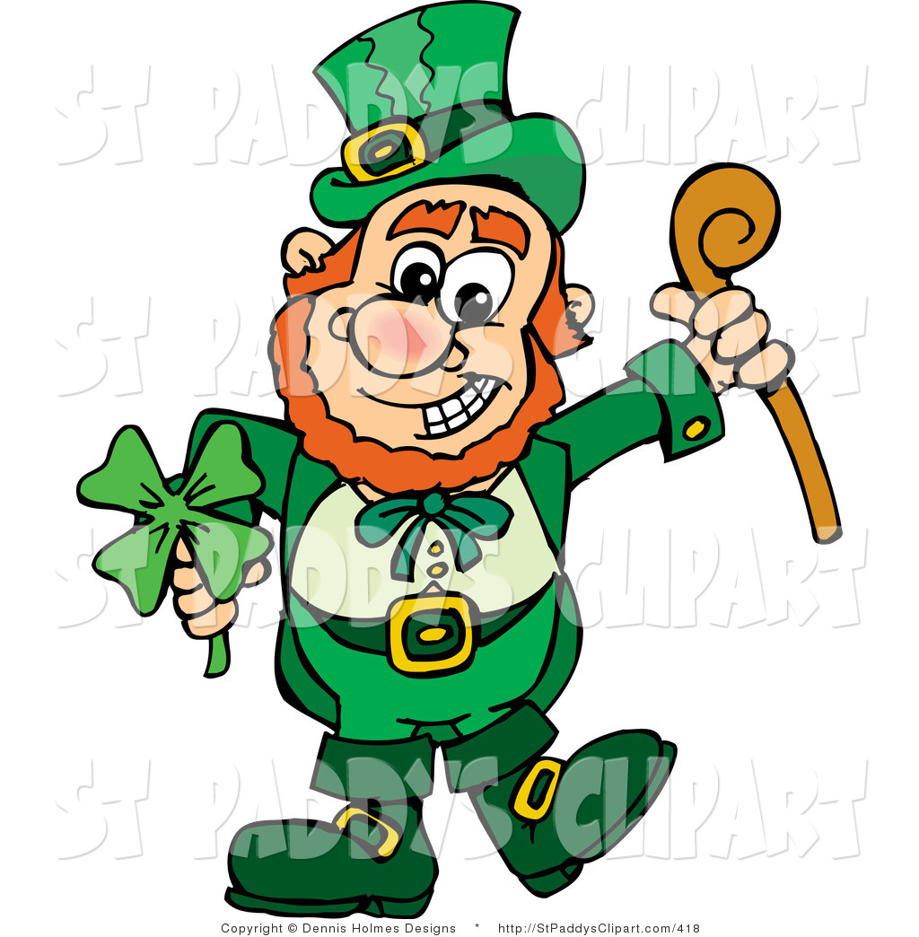 1024x1044 Vector Cliprt Of Saint Patricks Day Leprechaun Holding