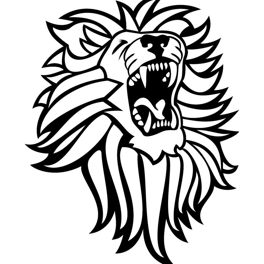 1024x1024 Hd Roaring Lion Clip Art Drawing Free Vector Art, Images
