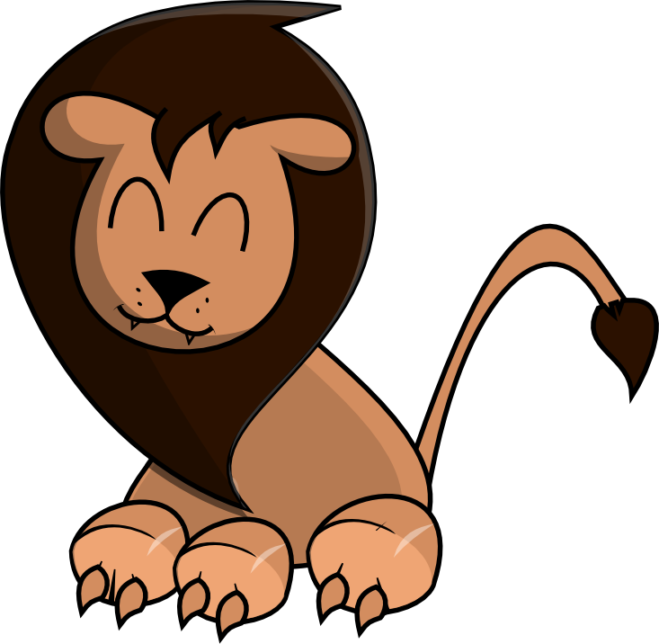 733x716 Cute Lion Head Clipart