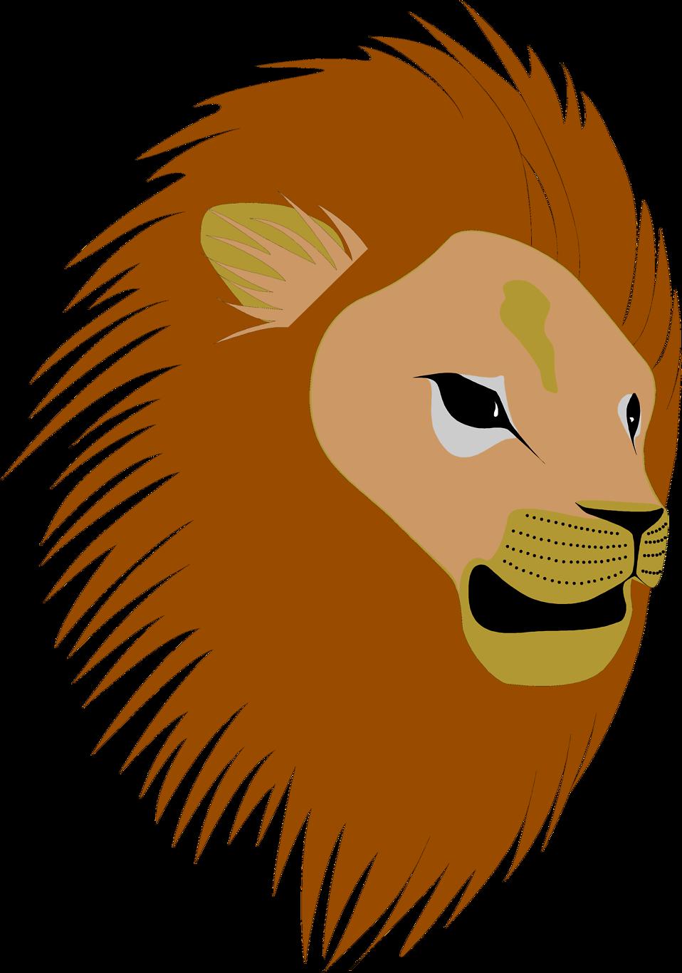 958x1366 Lion Head Clipart