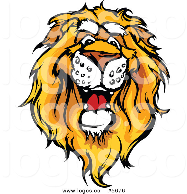 600x620 Royalty Free Vector Of A Logo Of A Friendly African Lion Head By