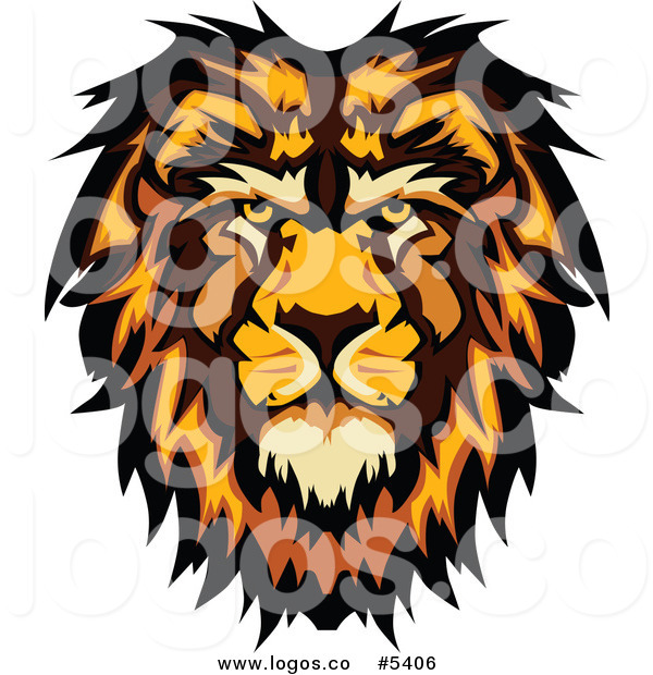 600x620 Royalty Free Vector Of A Logo Of A Male Lion Head By Chromaco