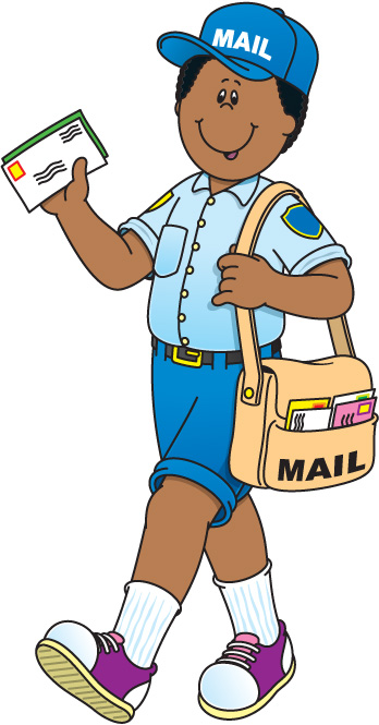 348x665 Mail Carrier Clipart