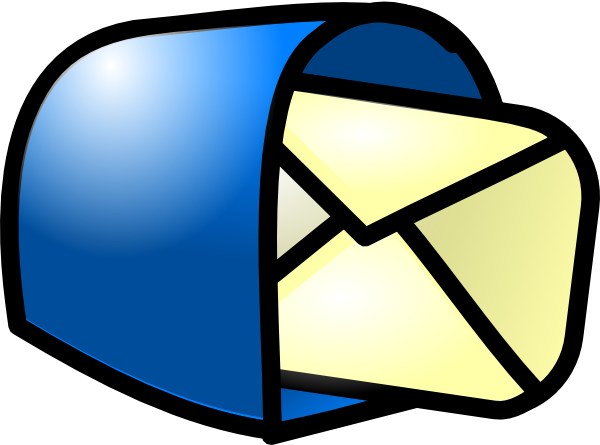 600x445 You Got Mail Blue Clip Art