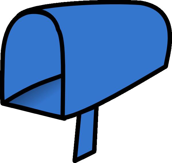 600x569 Blue Mailbox Open Clip Art