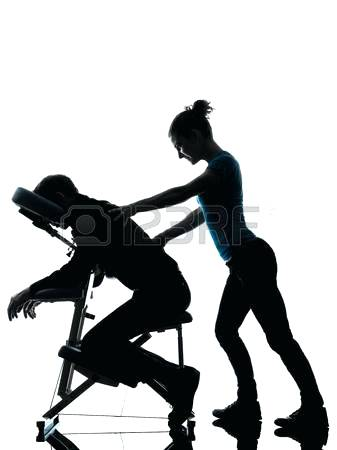 337x450 Massage Clipart Black And White Vector Illustration Of Man Getting