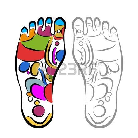 450x450 Foot Massage Clipart Foot Massage Reflexology Sketch For Your