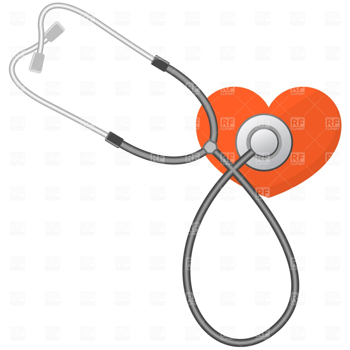 1200x1200 Stethoscope And Heart Royalty Free Vector Clip Art Image