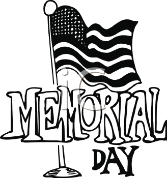 328x350 Memorial Day Black And White Clipart