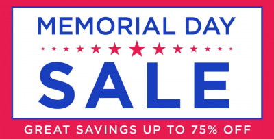 400x203 Memorial Day Sale Up To 75% Off Plus Extra 25% Off