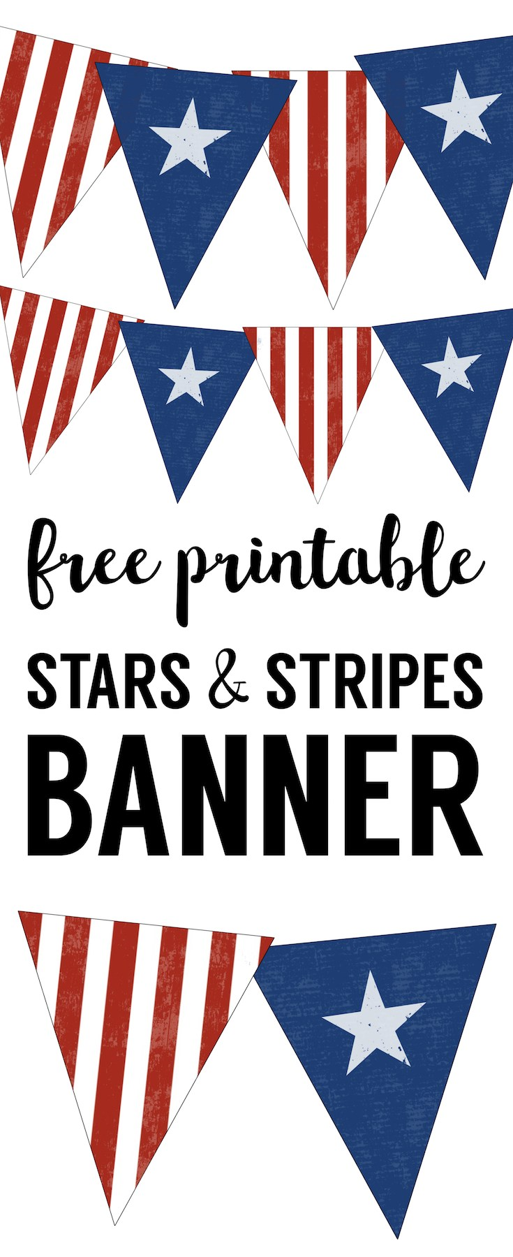 735x1800 Stars And Stripes Banner Free Printable