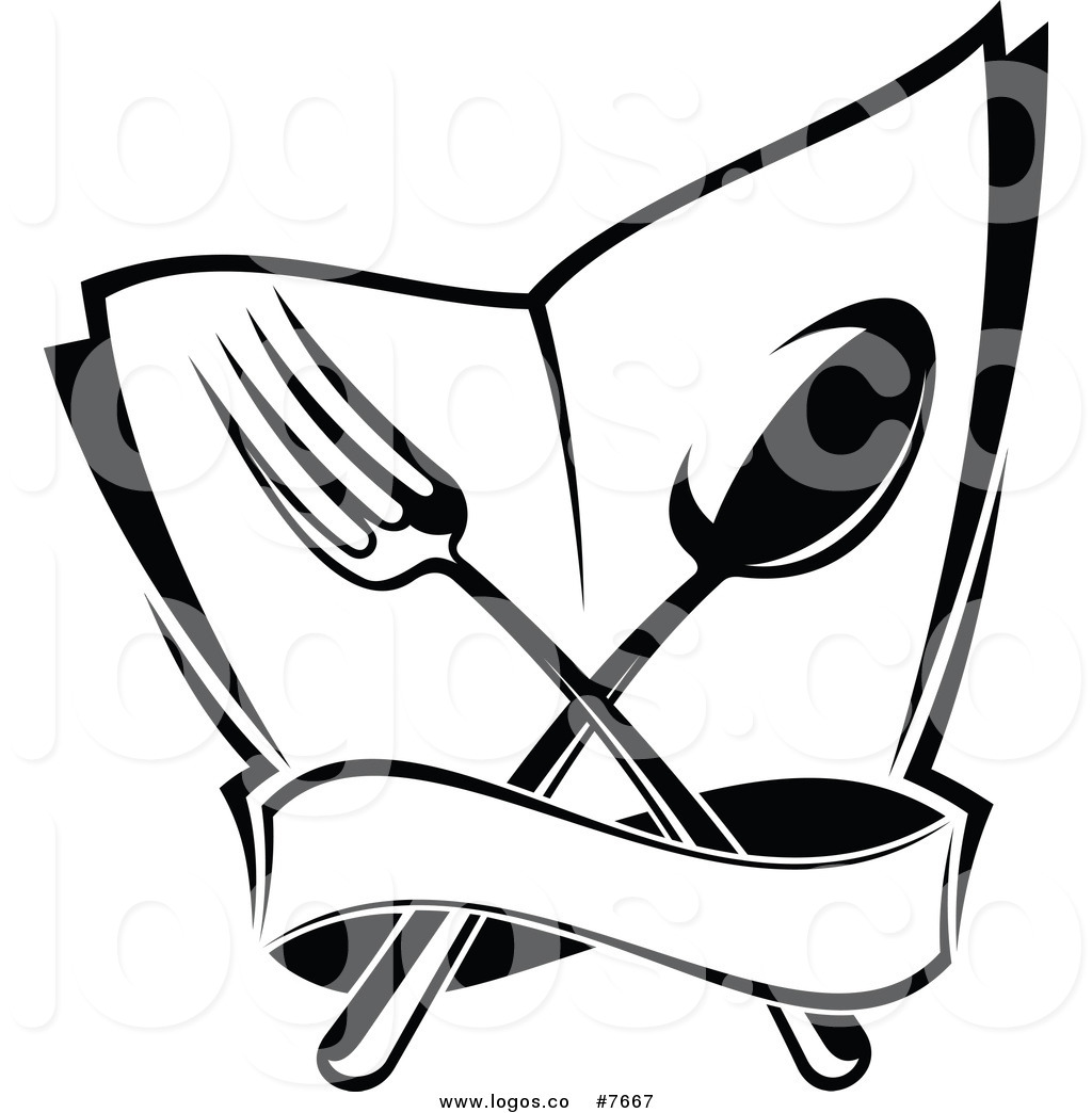 1024x1044 Royalty Free Clip Art Vector Logo Of A Black White Dining