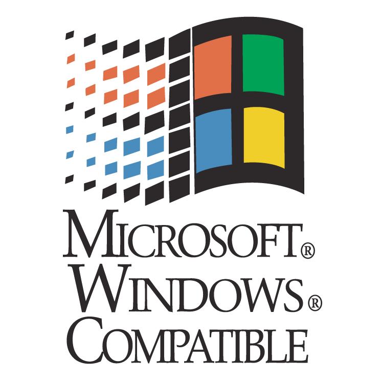 745x745 Microsoft Windows Compatible Free Vector 4vector