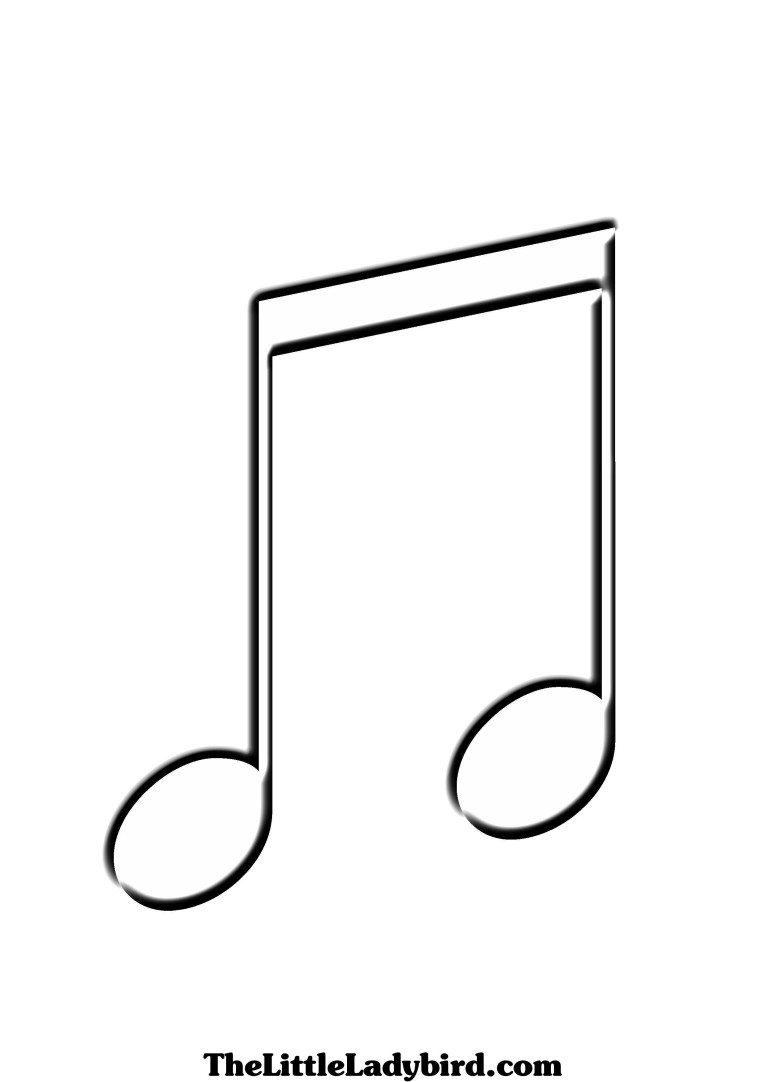 765x1082 Music Notes Clipart Printable