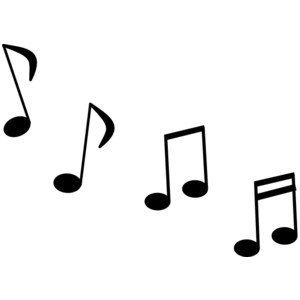300x300 Music Notes Black And White Free Music Note Clip Art