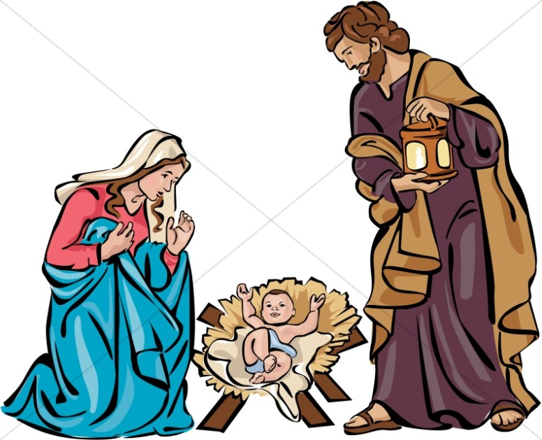 776x629 Holy Family Nativity In Color Christmas Holy
