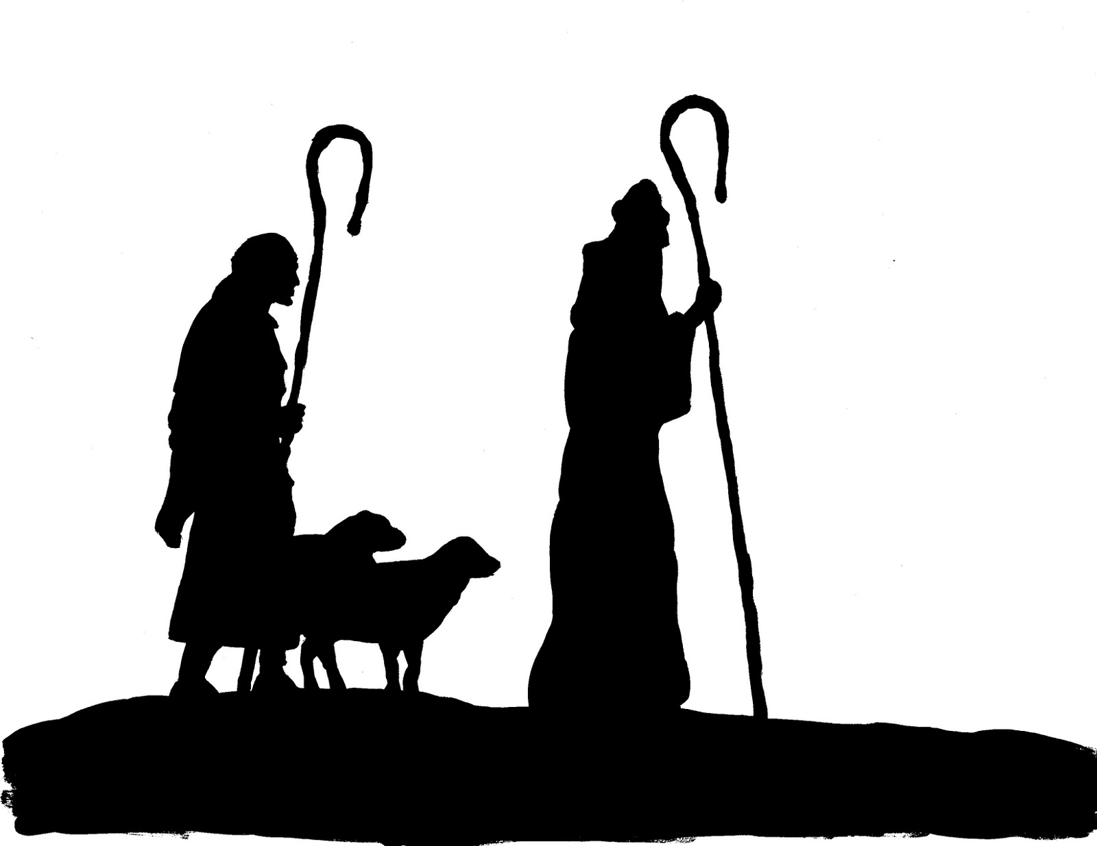 1600x1235 Nativity silhouettes including camel, angel, three magi bringing