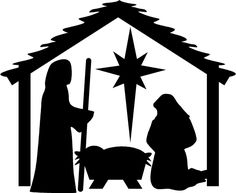236x193 free nativity silhouettes for shadow puppets. Christmas Time