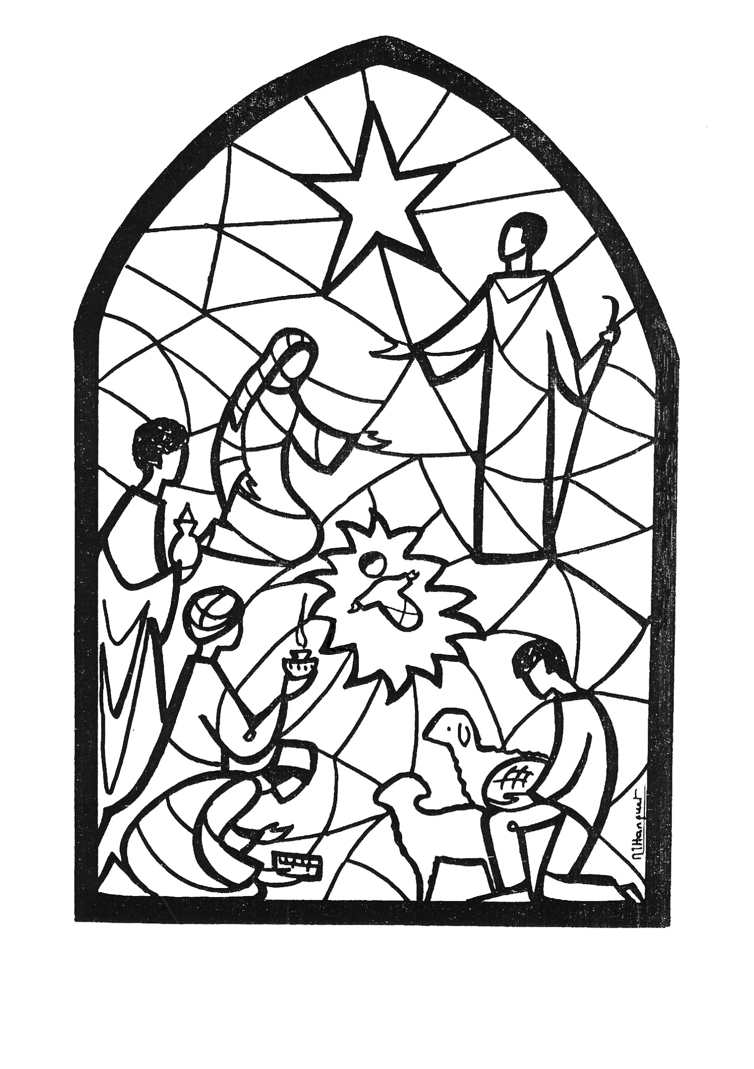 1500x2127 nativity craft, free printable Christmas Nativity