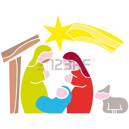 Free Nativity Silhouette Clipart