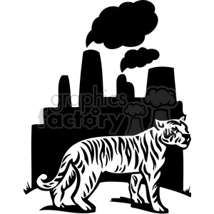 300x300 Royalty Free Nature Pollution Tiger Factory 069 386111 Vector Clip