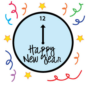 300x300 new year clipart clock