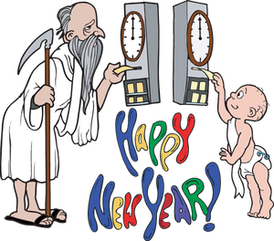 300x264 Funny New Year Clipart